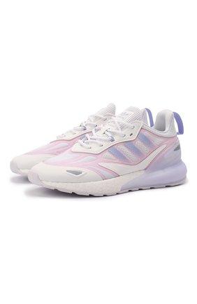 Женские комбинированные кроссовки zx 2k boost 2.0 ADIDAS ORIGINALS розового цвета, арт. GZ7824 | Фото 1