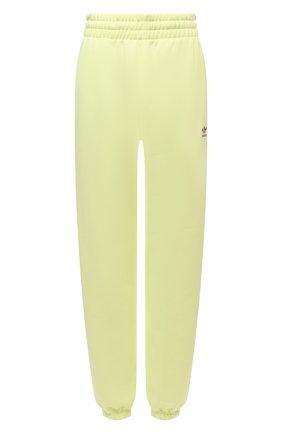 Женские хлопковые джоггеры ADIDAS ORIGINALS желтого цвета, арт. H06630 | Фото 1