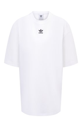 Женская хлопковая футболка ADIDAS ORIGINALS белого цвета, арт. H45578 | Фото 1