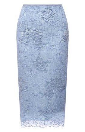 Женская юбка FENDI светло-голубого цвета, арт. FQ7198 AF7E | Фото 1