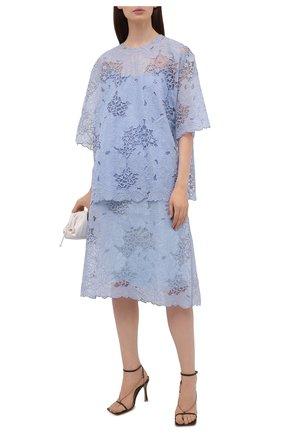 Женская юбка FENDI светло-голубого цвета, арт. FQ7198 AF7E | Фото 2