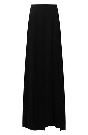 Женская шелковая юбка GIORGIO ARMANI черного цвета, арт. 1WHNN05I/T02MU   Фото 1