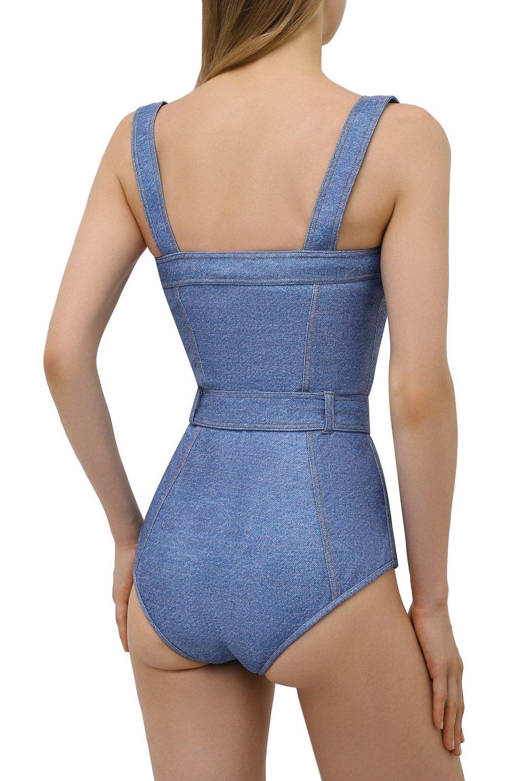 Женский слитный купальник BALMAIN голубого цвета, арт. BKBG40560   Фото 3