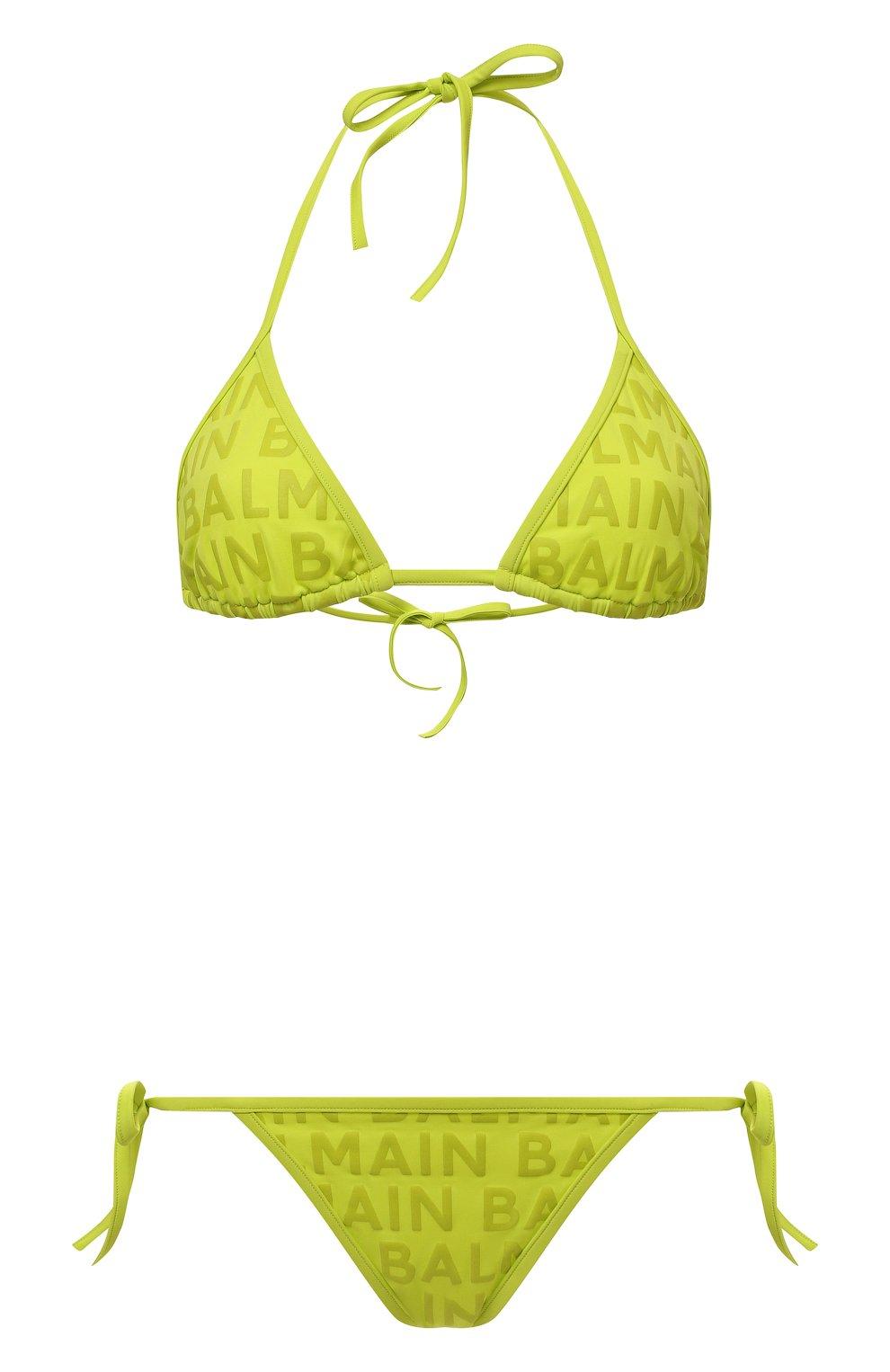 Женский раздельный купальник BALMAIN салатового цвета, арт. BKB900580   Фото 1