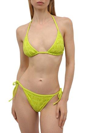 Женский раздельный купальник BALMAIN салатового цвета, арт. BKB900580   Фото 2