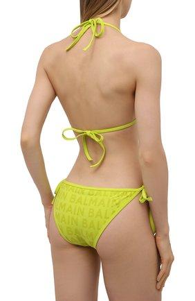Женский раздельный купальник BALMAIN салатового цвета, арт. BKB900580   Фото 3
