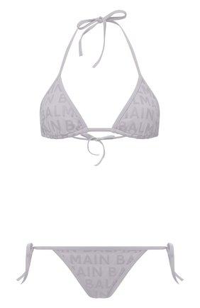 Женский раздельный купальник BALMAIN серого цвета, арт. BKB900580   Фото 1