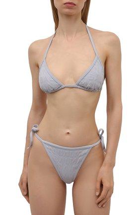 Женский раздельный купальник BALMAIN серого цвета, арт. BKB900580   Фото 2
