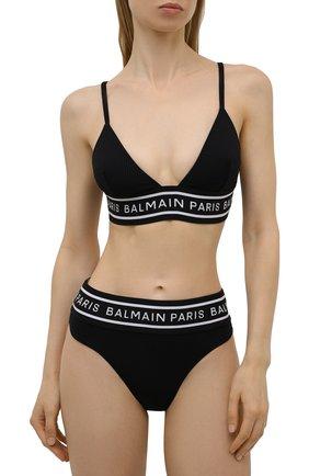 Женский раздельный купальник BALMAIN черного цвета, арт. BKB840590   Фото 2
