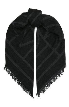 Женский шерстяной шарф TOTÊME темно-серого цвета, арт. 211-854-802 | Фото 1