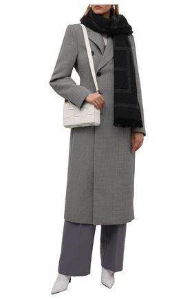 Женский шерстяной шарф TOTÊME темно-серого цвета, арт. 211-854-802 | Фото 2