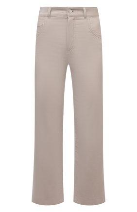 Женские хлопковые брюки LORO PIANA бежевого цвета, арт. FAL9460   Фото 1