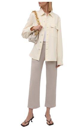 Женские хлопковые брюки LORO PIANA бежевого цвета, арт. FAL9460   Фото 2