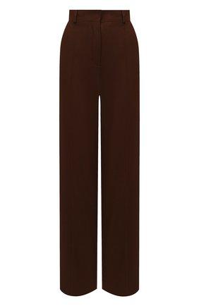 Женские кашемировые брюки LORO PIANA коричневого цвета, арт. FAL8073   Фото 1 (Материал внешний: Кашемир, Шерсть; Женское Кросс-КТ: Брюки-одежда; Силуэт Ж (брюки и джинсы): Прямые; Стили: Кэжуэл; Длина (брюки, джинсы): Удлиненные)