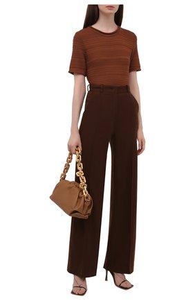 Женские кашемировые брюки LORO PIANA коричневого цвета, арт. FAL8073   Фото 2 (Материал внешний: Кашемир, Шерсть; Женское Кросс-КТ: Брюки-одежда; Силуэт Ж (брюки и джинсы): Прямые; Стили: Кэжуэл; Длина (брюки, джинсы): Удлиненные)