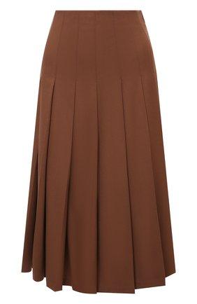 Женская кашемировая юбка LORO PIANA коричневого цвета, арт. FAL8034   Фото 1