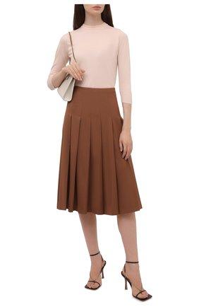 Женская кашемировая юбка LORO PIANA коричневого цвета, арт. FAL8034   Фото 2