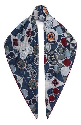 Женская шаль из кашемира и шелка LORO PIANA голубого цвета, арт. FAL7683 | Фото 1