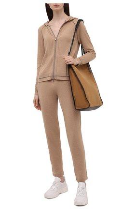Женские кашемировые брюки LORO PIANA бежевого цвета, арт. FAL7042   Фото 2