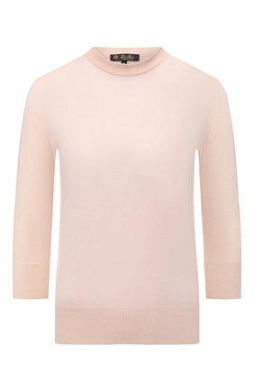 Женский кашемировый пуловер LORO PIANA розового цвета, арт. FAI4920   Фото 1