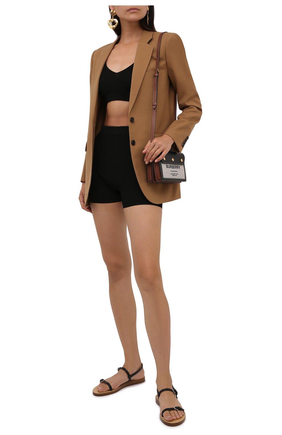 Женские шорты из вискозы SAINT LAURENT черного цвета, арт. 660275/Y75BE | Фото 2