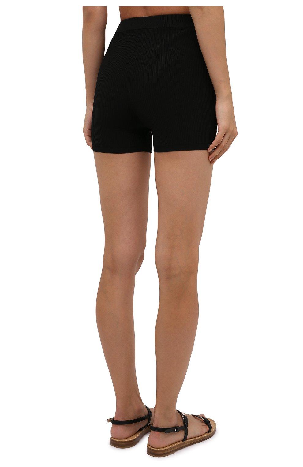 Женские шорты из вискозы SAINT LAURENT черного цвета, арт. 660275/Y75BE | Фото 4