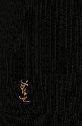 Женские шорты из вискозы SAINT LAURENT черного цвета, арт. 660275/Y75BE | Фото 5