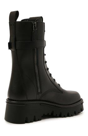 Женские кожаные ботинки campsite VALENTINO черного цвета, арт. WW2S0AQ8/TDD   Фото 5 (Подошва: Платформа; Материал внутренний: Натуральная кожа; Каблук высота: Средний; Женское Кросс-КТ: Байкеры-ботинки)