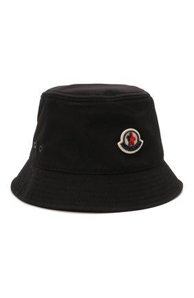 Женская панама MONCLER черного цвета, арт. G2-093-3B000-17-57843 | Фото 1 (Материал: Текстиль, Синтетический материал)