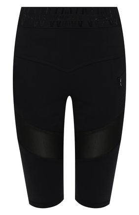 Женские шорты MONCLER черного цвета, арт. G2-093-8H000-15-899A6 | Фото 1 (Материал внешний: Синтетический материал; Длина Ж (юбки, платья, шорты): Миди; Женское Кросс-КТ: Шорты-одежда; Стили: Спорт-шик)