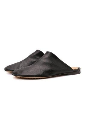 Женские кожаные сабо dot BOTTEGA VENETA черного цвета, арт. 667185/VBP40 | Фото 1 (Подошва: Плоская; Каблук высота: Низкий; Материал внутренний: Натуральная кожа; Каблук тип: Устойчивый)