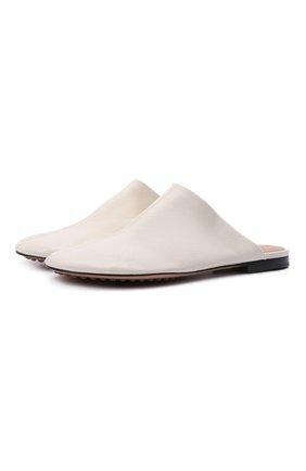 Женские кожаные сабо dot BOTTEGA VENETA белого цвета, арт. 667185/VBP40 | Фото 1 (Материал внутренний: Натуральная кожа; Подошва: Плоская; Каблук высота: Низкий; Каблук тип: Устойчивый)