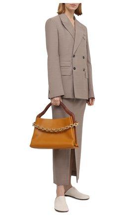 Женские кожаные сабо dot BOTTEGA VENETA белого цвета, арт. 667185/VBP40 | Фото 2 (Материал внутренний: Натуральная кожа; Подошва: Плоская; Каблук высота: Низкий; Каблук тип: Устойчивый)
