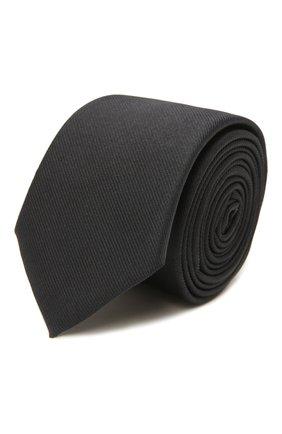 Мужской шелковый галстук BOSS темно-синего цвета, арт. 50461104 | Фото 1 (Материал: Текстиль, Шелк; Принт: Без принта)