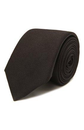 Мужской шелковый галстук BOSS черного цвета, арт. 50461104 | Фото 1 (Материал: Шелк, Текстиль; Принт: Без принта)