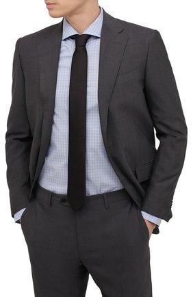 Мужской шелковый галстук BOSS черного цвета, арт. 50461104 | Фото 2 (Материал: Шелк, Текстиль; Принт: Без принта)