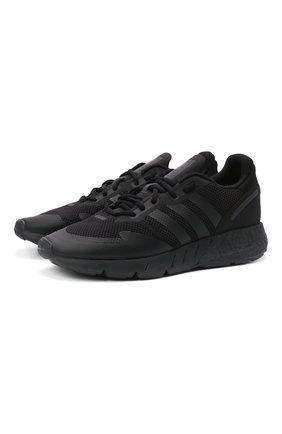 Мужские кроссовки zx 1k boost ADIDAS ORIGINALS черного цвета, арт. H68721   Фото 1
