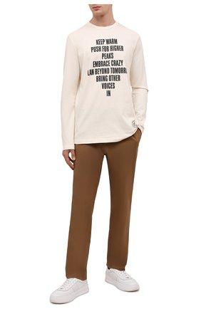 Мужские кожаные кеды TOD'S белого цвета, арт. XXM79B0DP30JUS | Фото 2