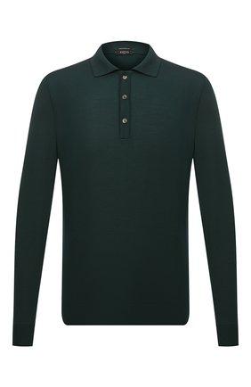 Мужское шерстяное поло SVEVO зеленого цвета, арт. 1377SA21/MP13 | Фото 1