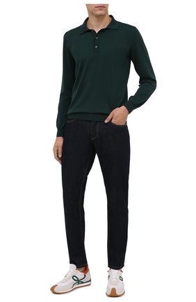 Мужское шерстяное поло SVEVO зеленого цвета, арт. 1377SA21/MP13 | Фото 2