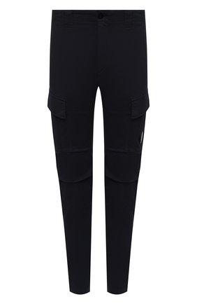 Мужские хлопковые брюки-карго C.P. COMPANY темно-синего цвета, арт. 11CMPA186A-005529G | Фото 1 (Материал внешний: Хлопок; Случай: Повседневный; Силуэт М (брюки): Карго; Стили: Кэжуэл; Длина (брюки, джинсы): Стандартные)