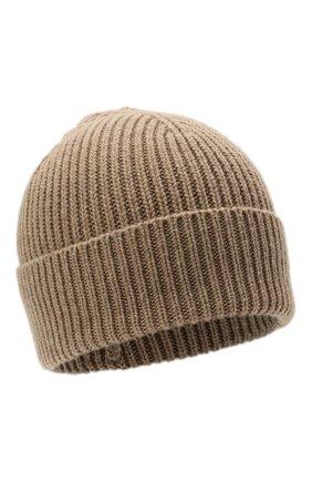 Мужская кашемировая шапка INVERNI темно-бежевого цвета, арт. 5321 CM   Фото 1 (Материал: Кашемир, Шерсть; Кросс-КТ: Трикотаж)