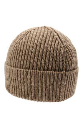 Мужская кашемировая шапка INVERNI темно-бежевого цвета, арт. 5321 CM   Фото 2 (Материал: Кашемир, Шерсть; Кросс-КТ: Трикотаж)