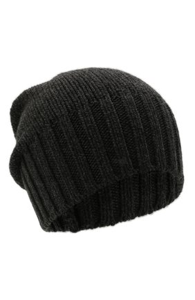Мужская кашемировая шапка INVERNI темно-серого цвета, арт. 4226 CM   Фото 1 (Материал: Шерсть, Кашемир; Кросс-КТ: Трикотаж)