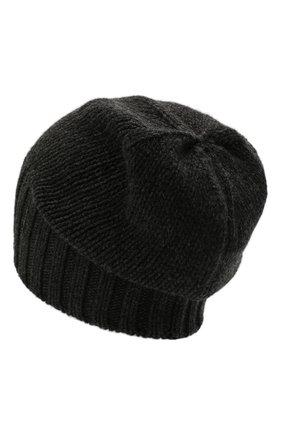 Мужская кашемировая шапка INVERNI темно-серого цвета, арт. 4226 CM   Фото 2 (Материал: Шерсть, Кашемир; Кросс-КТ: Трикотаж)