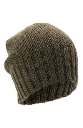 Мужская кашемировая шапка INVERNI хаки цвета, арт. 4226 CM   Фото 1 (Материал: Шерсть, Кашемир; Кросс-КТ: Трикотаж)