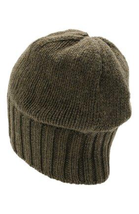 Мужская кашемировая шапка INVERNI хаки цвета, арт. 4226 CM   Фото 2 (Материал: Шерсть, Кашемир; Кросс-КТ: Трикотаж)