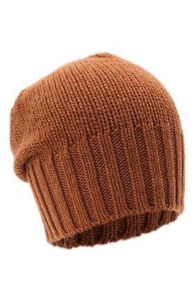 Мужская кашемировая шапка INVERNI светло-коричневого цвета, арт. 4226 CM   Фото 1 (Материал: Шерсть, Кашемир; Кросс-КТ: Трикотаж)