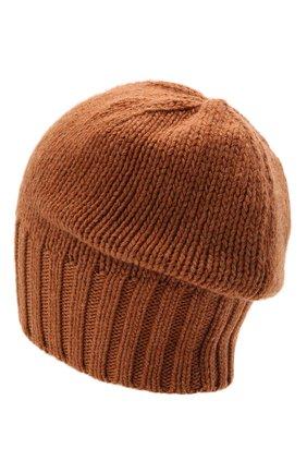 Мужская кашемировая шапка INVERNI светло-коричневого цвета, арт. 4226 CM   Фото 2 (Материал: Шерсть, Кашемир; Кросс-КТ: Трикотаж)