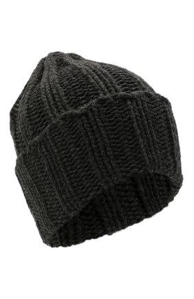 Мужская кашемировая шапка INVERNI темно-серого цвета, арт. 1128 CM   Фото 1 (Материал: Шерсть, Кашемир; Кросс-КТ: Трикотаж)